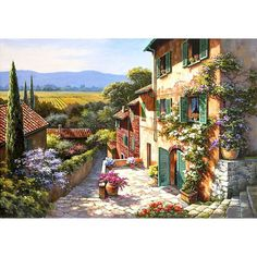 Cheap oil painting, Buy Quality framed oil painting directly from China oil painting framed Suppliers: BAISITE DIY Framed Oil Painting By Numbers Landscape Pictures Canvas Painting For Living Room Wall Art Home Decor Landscape Pictures, Landscape Art, Landscape Paintings, Landscape Posters, Canvas Pictures, Art Pictures, Italy Pictures, Canvas Wall Art, Wall Art Prints