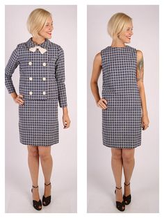 1960s Dress & Jacket // vintage 60s 2pc set // by dethrosevintage, $79.00