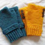 Seamless fingerless gloves