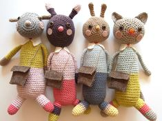 crochet dolls so cute!! Lauren Brown do you think you could do these