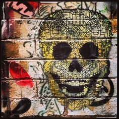 Laughing Skull melbourne street art graffiti