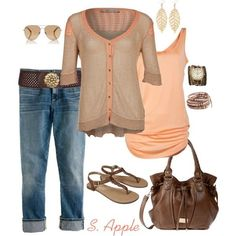 Georgia Peaches, created by sapple324 on Polyvore by jacklyn