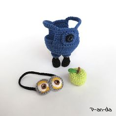 Crochet Minion Despicable Me with a papple ) P-an-da: Двое из ларца НЕ одинаковы с лица :) или снова Миньон !