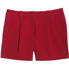 Canvas by Lands' End Women's Bi-Stretch Shorts ($52) ❤ liked on Polyvore featuring shorts, pants, red, stretchy shorts, stretch shorts, summer shorts, red shorts and pleated shorts