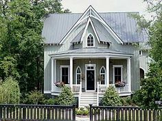Fell in love with this gothic revival year ago in Cottage Living and still love it!