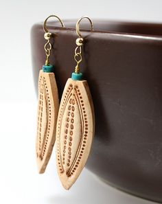 Faux leather polymer clay