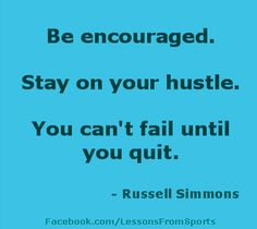 """Sports quote- """"Be encouraged..."""" Visit our website at http://LessonsFromSports.com; Like us on Facebook at http://Facebook.com/LessonsFromSports; and join us on Twitter @lessonsSports"""
