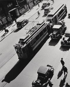 Andreas Feininger, Kungsgatan, view from Malmskillnadsgatan, Stockholm c1935