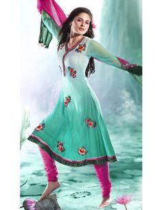 Astounding Party Suit http://www.bharatplaza.com/womens-wear/readymade-suits/bollywood-salwars.html