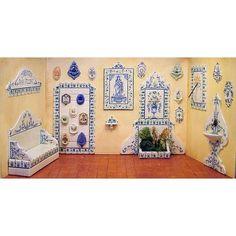 Escena de cerámicas - Artesanos Felipe Royo. Miniaturas para Casas de Muñecas