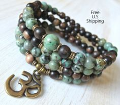 Hey, I found this really awesome Etsy listing at https://www.etsy.com/ca/listing/176332123/108-mala-african-turquoise-om-mala-wrap