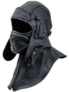 Siberia - Leather Genuine leather aviator/trapper cap with detachable collar and mask. Both easily removable. Dedicated for extreme weather conditions - storm, frost, blizzard. Aviator Hat, Tactical Clothing, Detachable Collar, Bow Sneakers, Polar Fleece, Headgear, Leather Men, Leather Collar, Fashion Brands