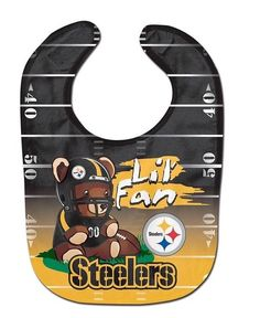 "NFL Pittsburgh Steelers ""Lil' Fan"" Teddy Bear Bib  