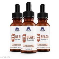 Beard Care Druvan Powerful Hair Beard Oil (Pack Of 3) Product Name: Druvan Powerful Hair Beard Oil (Pack Of 3) Multipack: 3 Country of Origin: India Sizes Available: Free Size   Catalog Rating: ★4.5 (578)  Catalog Name: druvan oil beard oil made in india CatalogID_1850537 C146-SC1819 Code: 232-10221158-654