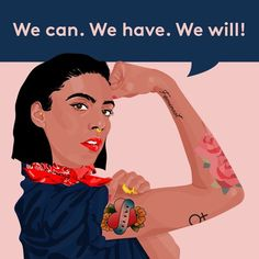 We Made Girl-Power Merch For International Women's Day Protest Art, Protest Posters, Protest Signs, Feminism Poster, Political Art, Political Cartoons, Rosie The Riveter, Feminist Art, Feminist Quotes