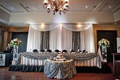 Head table on the dance floor