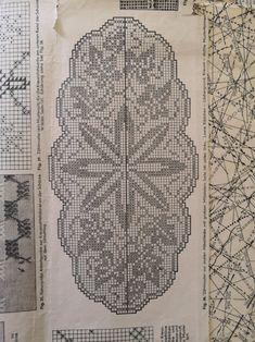 Filethäkeln Filet Crochet Charts, Crochet Diagram, Doilies, Cross Stitch Embroidery, Vintage World Maps, Patterns, Towels, Cakes, Recipes