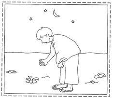 Le pèlerin ramasse 7 cailloux.