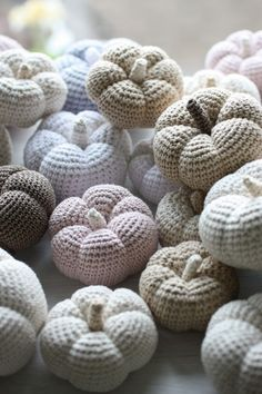 .crocheted pumpkin