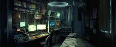 Hacker's Apartment, Liam Reid on ArtStation at https://www.artstation.com/artwork/hacker-s-apartment