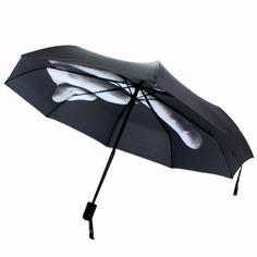 Hot sell Novelty Middle Finger Design Black Umbrella Cool Fashion Impact Umbrella 3 Fold #Affiliate
