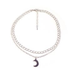 Image of Mini moon double chain choker