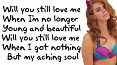 Lana Del Rey - Young & Beautiful [Lyric Video]...would be a great song to play at a wedding love it!