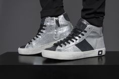 D.A.T.E. HILL HIGH STARDUST SILVER  Autumn Winter 2014 Collection www.date-sneakers.it