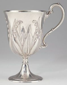 """Victorian Silver """"Lily of the Valley"""" Footed Cup.  Edward & John Barnard, London, 1862"""