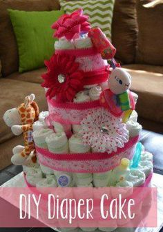 Make Baby Diaper Wreath Instructions | 280px
