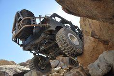 ATX Slab Satin Black Wheels in a Black Off Road Jeep.