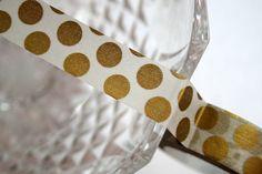 Gold Big Dots Washi Tape by TheWashiShop on Etsy