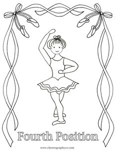ballet coloring pages - Google Search  - Fourth Position