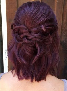 half up half down braided wedding hairstyle for short hair #weddinghairstyles