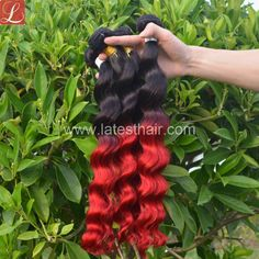 #1b/red,black red ombre hair weaves, loose wave two tone human hair,shop from www.latesthair.com/ Ombre Hair Weave, Red Ombre Hair, Blond, Ombre Human Hair Extensions, Hair Shop, Hair Weaves, Loose Waves, Weave Hairstyles, Healthy Hair