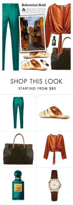 """Cartagena"" by nadialesa ❤ liked on Polyvore featuring Antonio Berardi, The Row, Louis Vuitton, MANGO, Old Navy, Tom Ford and Bulova"
