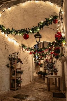 Merry little Christmas ☄ ~ Locorotondo, Apulia, Italy Photo: Beautiful! TAG your favourite person! Christmas Scenery, Christmas In Italy, Christmas Town, Italian Christmas, Noel Christmas, Merry Little Christmas, Winter Christmas, All Things Christmas, Christmas Lights