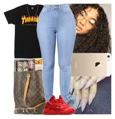 """Untitled #585"" by msixo ❤ liked on Polyvore featuring Pieces, Louis Vuitton, NIKE, David Yurman and Eyevan 7285"