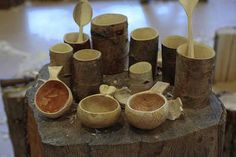 woodcarving course shrink pots and kuksa - Robin Wood