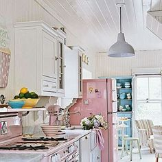 OMG, this kitchen is perfect for our 1962 ranch style house! <3 <3 <3