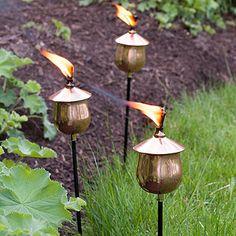 Copper Garden Torches