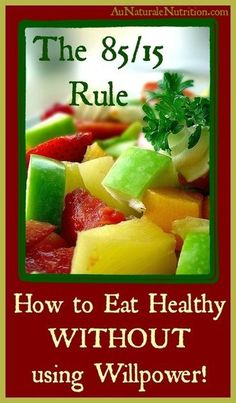 Does your diet plan cause you social isolation, willpower lapses, or guilt?  Is it really healthy?  Learn: The 85/15 Way of Eating, by www.aunaturalenutrition.com