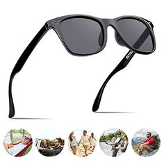 ce2cdcb659 Polarized Sunglasses For Men Wayfarer Black Frame Shades Classic Sun Glasses