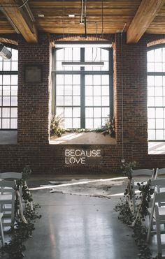 industrial boho chic wedding ceremony ideas Talking about wedding trends in industrial style is everywhere now and we'll see it more next year. Getting married in industrial venues is contrasting,. Wedding Ceremony Ideas, Wedding Signage, Wedding Receptions, Wedding Vows, Seattle Wedding Venues, Wedding Verses, Wedding Places, Reception Decorations, Wedding Centerpieces