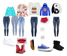 """""""What up"""" by phine48 ❤ liked on Polyvore featuring Paige Denim, Dr. Martens, MITU, Converse, UGG Australia, J Brand, Agape, Topshop and NIKE"""