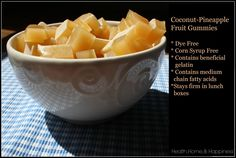 natural coconut pineapple gummies with gelatin pin