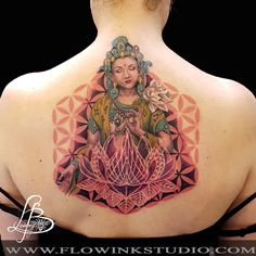 tara tattoo flower of life & lotus by lainey bee