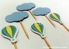 Kit festa personalizado para o mesversário do seu bebê. Tema balão. Kit de mesversário para meninos. Itens prontos para personalizar sua festa.