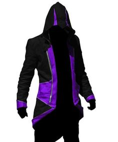 Black Friday ARTTER Assassins Creed 3 Connor/Conner Kenway Hoodie Costume Jacket Coat,Black With Purple (men-Large) from artter Cosplay Outfits, Cosplay Costumes, Conner Kenway, Assassins Creed Costume, Halloween Fancy Dress, Hoodie Jacket, Black Hoodie, Anime Cosplay, Men Casual