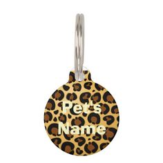 #Jaguar #Fur #Pattern #Round_Pet_Tags / #Pet_ID_Tag SOLD at #Zazzle! Thanks! :)   http://www.zazzle.com/jaguar_fur_pattern_round_pet_tags_pet_id_tag-256891537720243211